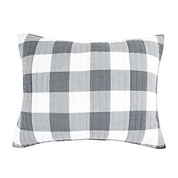 Bee & Willow™ Home Sawyer Standard Pillow Sham in Grey