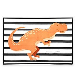 Marmalade™ Folk T-Rex 24-Inch x 16-Inch Canvas Wall Art in Floater Frame