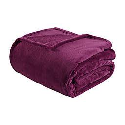 Intelligent Design Microlight Plush Twin/Twin XL Throw Blanket in Purple