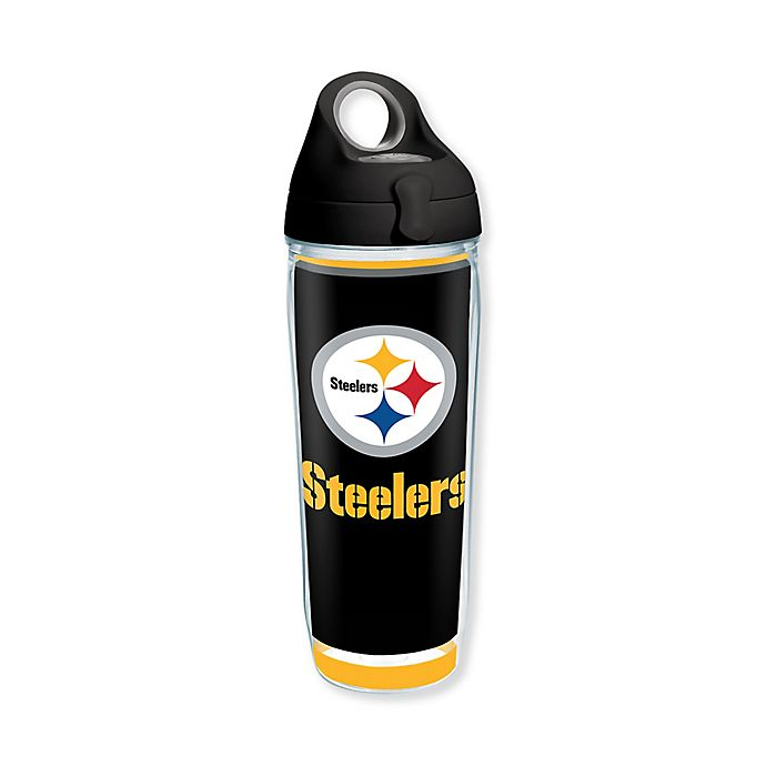 NFL Pittsburgh Steelers 14oz Double Wall Stainless Steel Thermo Cup with Lid