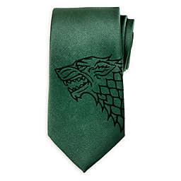 Game Of Thrones Stark Direwolf Men's Tie in Green