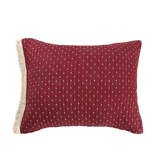 Alternate image 1 for Bee & Willow™ Home Holden King Pillow Sham in Burgundy