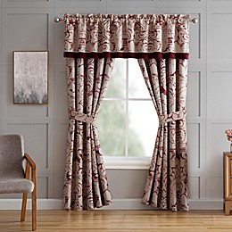 Veratex Allouette 84-Inch Rod Pocket Window Curtain Panel Pair in Red