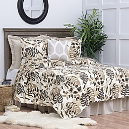C&F Home Silhouette Palm Reversible Quilt Set