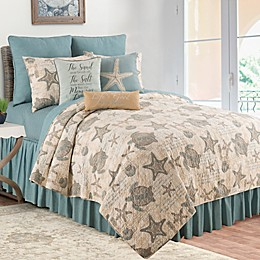 C & F Home Amber Sands Reversible Quilt Set in Tan