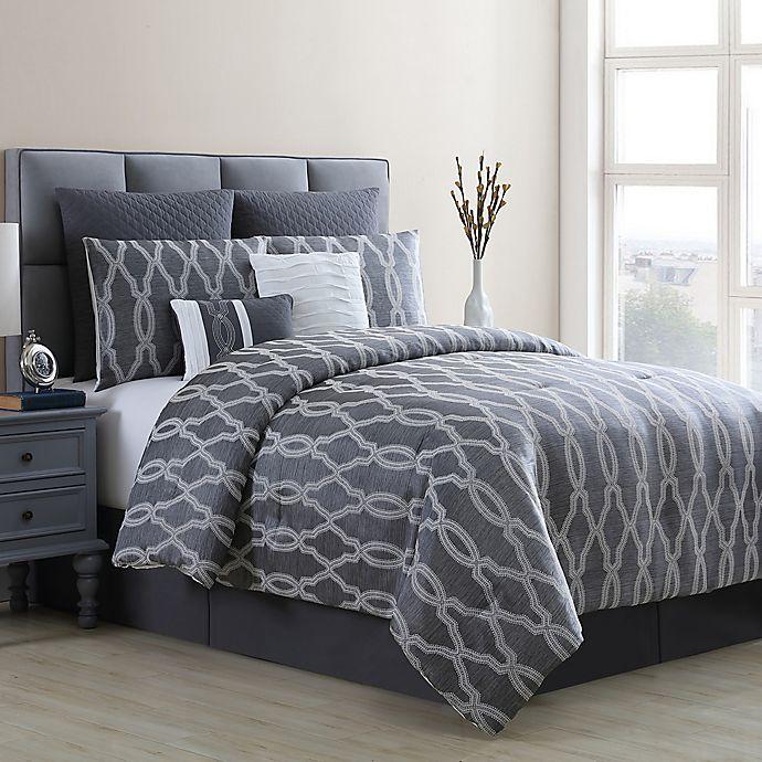 Alternate image 1 for VCNY Home Brandy Queen Comforter Set in Grey