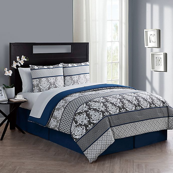 Alternate image 1 for VCNY Home Beckham King Comforter Set in Blue