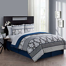 VCNY Home Beckham King Comforter Set in Blue