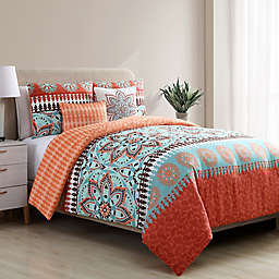 VCNY Home Ezra Reversible King Comforter Set in Orange