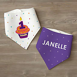 My Little Cupcake Personalized Birthday Bandana Bib Set