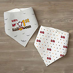 My First Halloween Personalized Bandana Bib Set