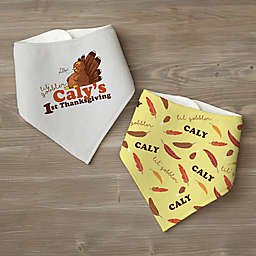 My First Thanksgiving Personalized Bandana Bib Set