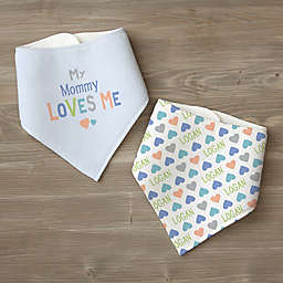 You Are Loved Personalized Bandana Bib Set
