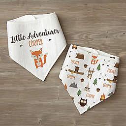 Woodland Adventure Fox Personalized Baby Bandana Bib Set