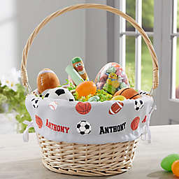 All About Sports Personalized Easter Basket