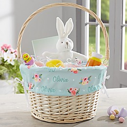 Floral Baby Personalized Easter Basket