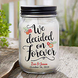 Forever...Personalized Farmhouse Candle Jar