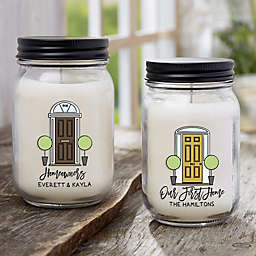 Our First Home Personalized Farmhouse Candle Jar