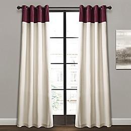 Milo Color Block Grommet Window Curtain Panel Pair
