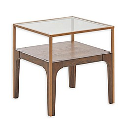 Madison Park Clover End Table in Antique Gold
