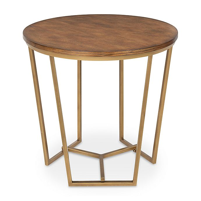 Alternate image 1 for Kate and Laurel Solvay Accent Table in Walnut Brown