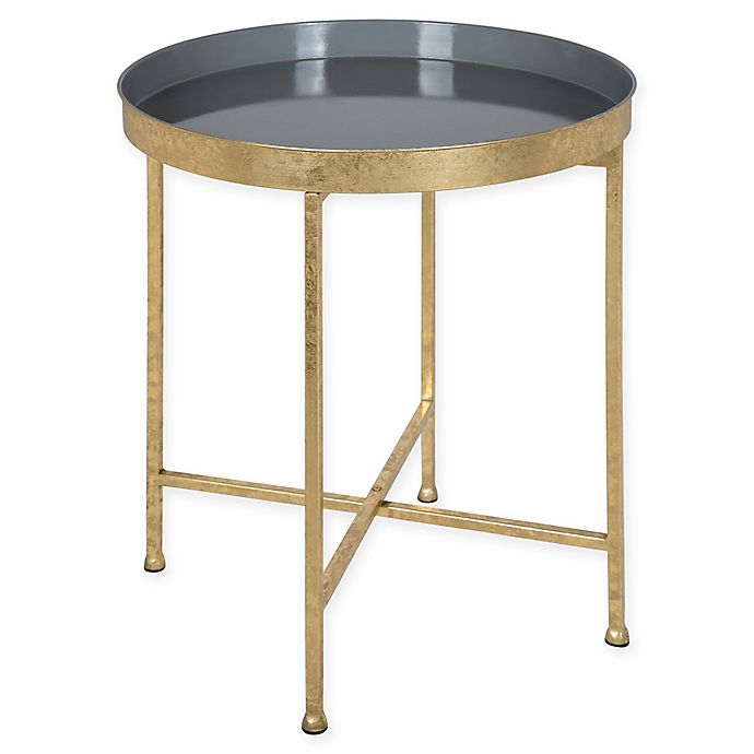 Alternate image 1 for Kate And Laurel Celia Side Table in Grey/Gold