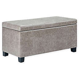 Simpli Home Dover Storage Ottoman Bench
