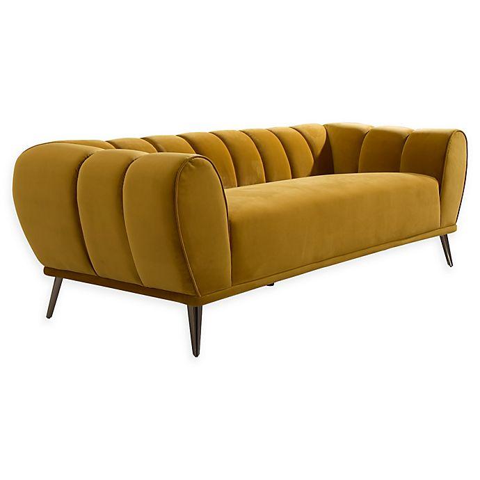Chic Home Charity Velvet Sofa In Gold