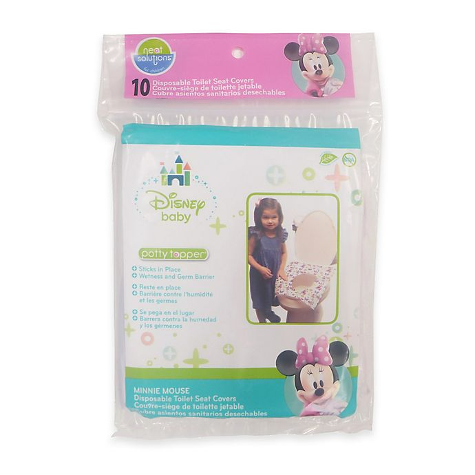 Alternate image 1 for Neat Solutions® 10-Count Minnie Mouse Bow-tique Potty Topper