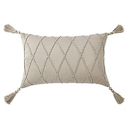 Waterford® Shelah Oblong Throw Pillow in Silver