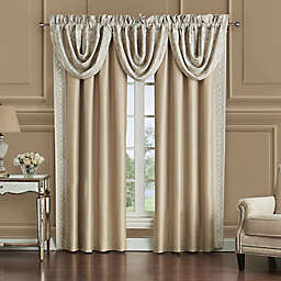Waterford® Shelah Cascade Valances in Gold/Ivory (Set of 3)