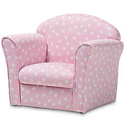 Baxton Studio Trudy Heart Kids Armchair in Pink/White