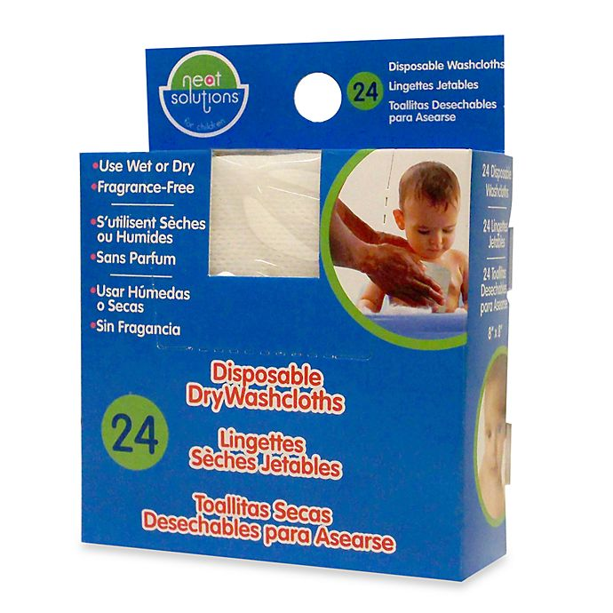Alternate image 1 for Neat Solutions® 24-Pack Disposable Dry Washcloths