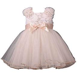 Bonnie Baby Fluffy Shoulder Dress in Ivory