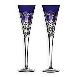 Waterford® 2020 Times Square Gift of Goodwill Champagne Flutes in Violet (Set of 2)