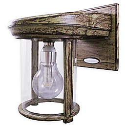 Gama Sonic Outdoor Solar Powered Outdoor Wall Sconce in Weathered Bronze