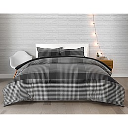Pendleton® Modern 2-Piece Reversible Plaid Twin XL Comforter Set in Charcoal/Ivory