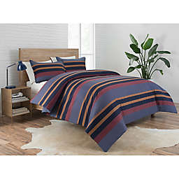 Pendleton® Lake Stripe 2-Piece Reversible Camp Twin XL Comforter Set in Navy