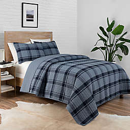 Pendleton® Bayshore 2-Piece Reversible Plaid Twin XL Coverlet Set in Navy
