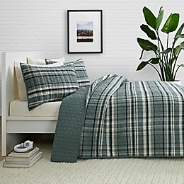 Pendleton® Stanfield 2-Piece Reversible Plaid Twin XL Coverlet Set in Shale