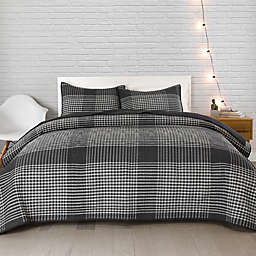 Pendleton® Modern 2-Piece Reversible Plaid Twin XL Coverlet Set in Charcoal/Ivory