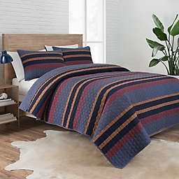 Pendleton® Lake Stripe Reversible Coverlet Set
