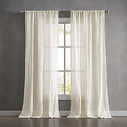 French Connection Charter Crushed Rod Pocket Window Curtain Panel Pair