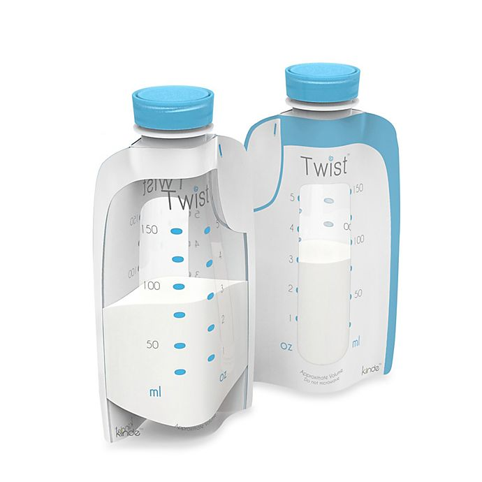 Alternate image 1 for Kiinde™ Twist Pouch 20-Count 6 oz. Direct-Pump Breastmilk Storage Pouches