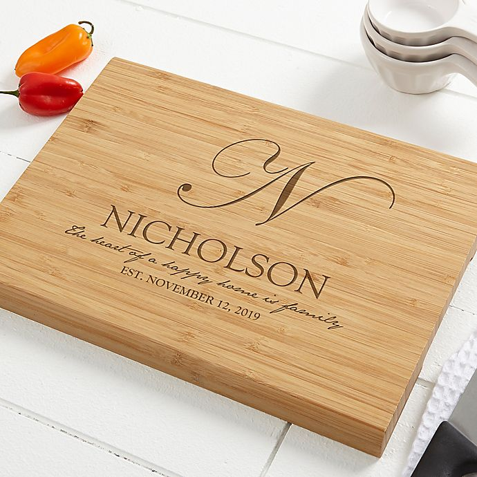 Alternate image 1 for Classic Kitchen Personalized Bamboo Cutting Board
