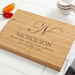 Classic Kitchen Personalized Bamboo Cutting Board