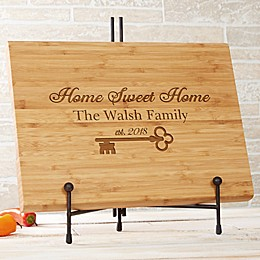 Key To Our Home Personalized Bamboo Cutting Board