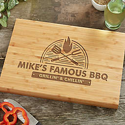 The Grill Personalized Bamboo Cutting Board Collection