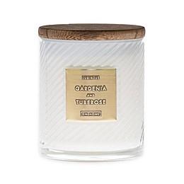 Gardenia & Tuberose 10 oz. Scented Spiral Candle in White