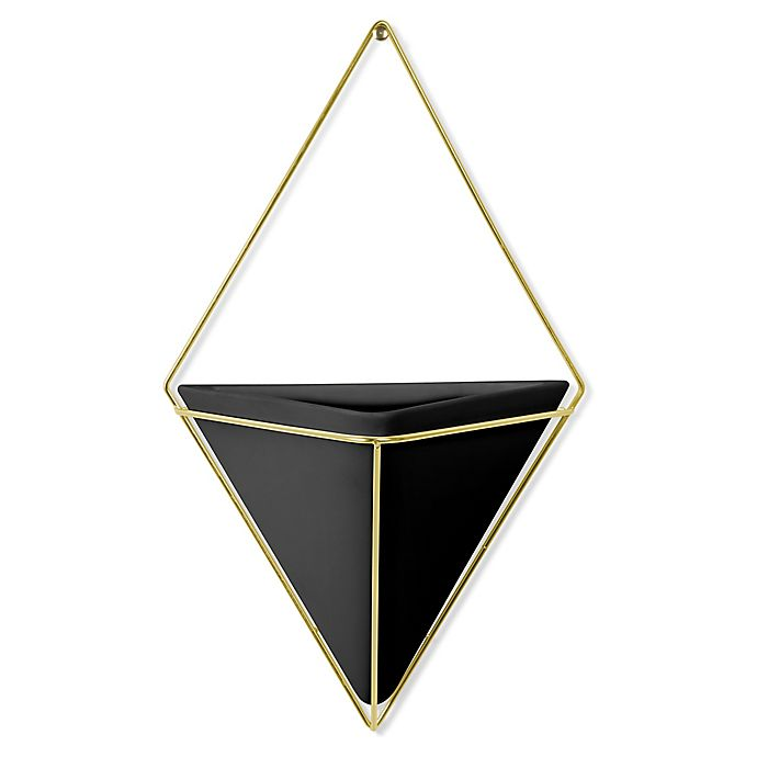Umbra Trigg Large Wall Planter In Black Bed Bath And Beyond Canada